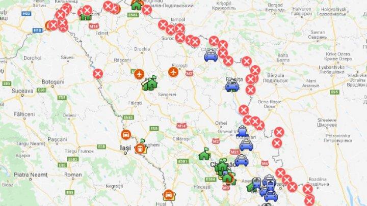 LISTA punctelor de trecere a frontierei de stat, care sunt deschise traficului