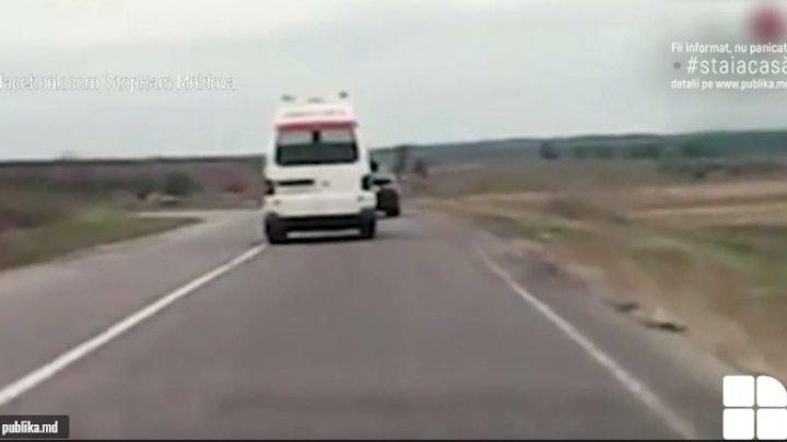 Șoferul care nu a cedat trecerea unei ambulanțe pe șoseaua Leova-Chişinău, IDENTIFICAT și SANCȚIONAT