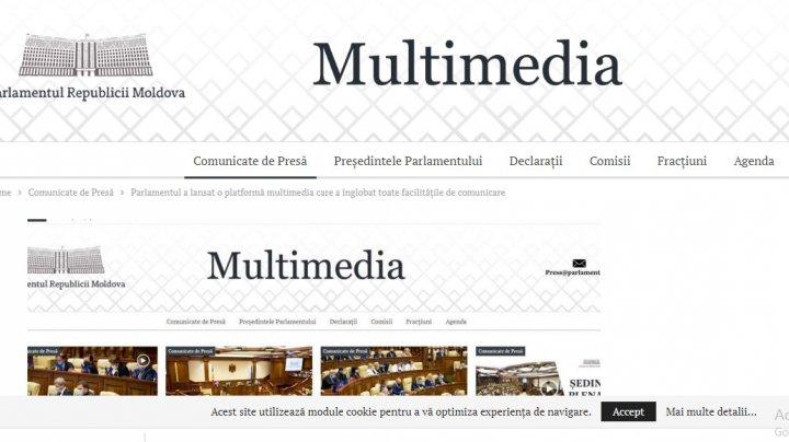 Parlamentul va avea în curând alt site, iar comunicatele de presă vor fi accesate la o altă adresă
