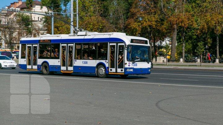 Orarul de circulație a unei rute de troleibuz din Capitală va fi modificat