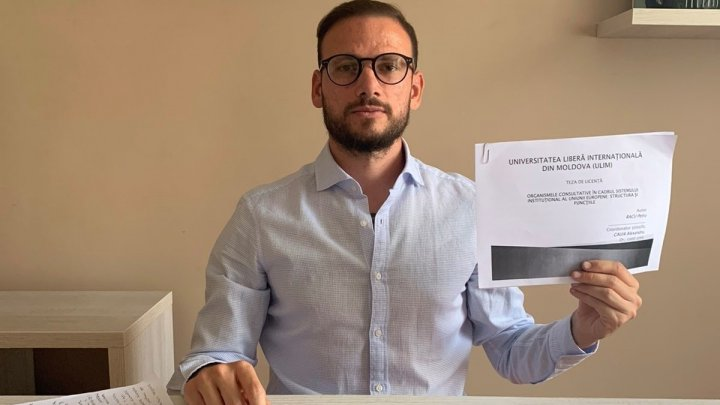 Specialist cu studii superioare! Petru Racu a susţinut cu brio examenul de licență de la ULIM