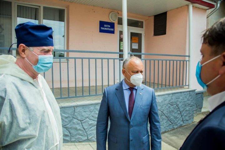 Igor Dodon, inspecţie la digul din Soroca