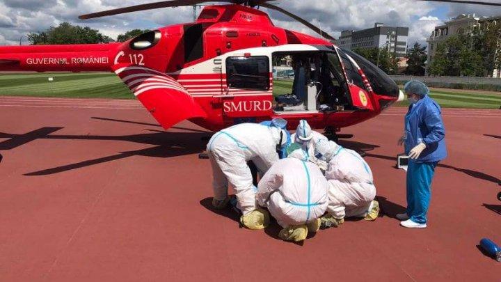 O tânără din Chișinău a fost transportată de urgenţă cu un elicopter SMURD la București (FOTO)