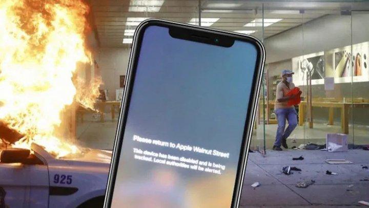 Apple le-a transmis un mesaj celor care i-au jefuit magazinele, chiar prin intermediul dispozitivelor furate