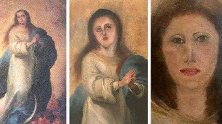 O pictură spaniolă aparţinând stilului baroc, distrusă de o restaurare marcată de amatorism