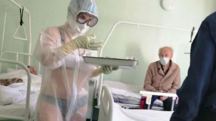 Unde a ajuns să lucreze asistenta medicală din Rusia, care a îngrijit pacienți în lenjerie intimă