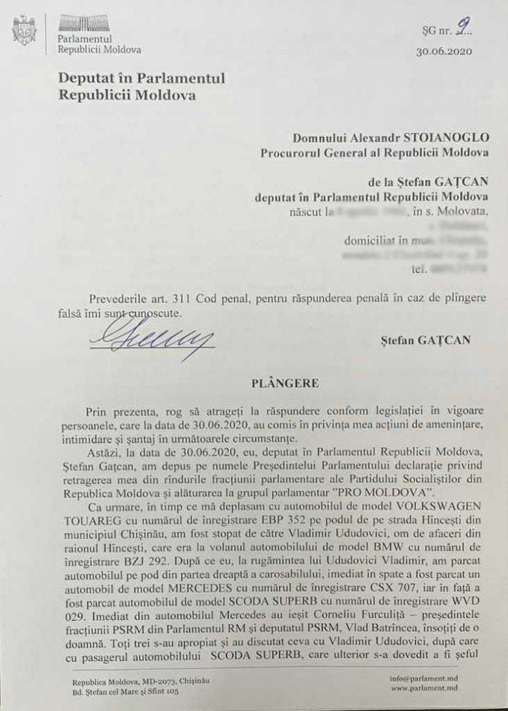 PRO MOLDOVA: Gaţcan a fost obligat să-şi depună mandatul. PSRM nu răspunde acuzaţiilor (AUDIO)