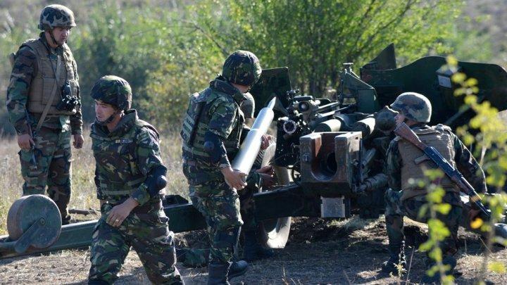 """Artileriști ai Armatei Naționale au plecat în România pentru a participa la """"Scutul de Foc"""" (FOTO)"""