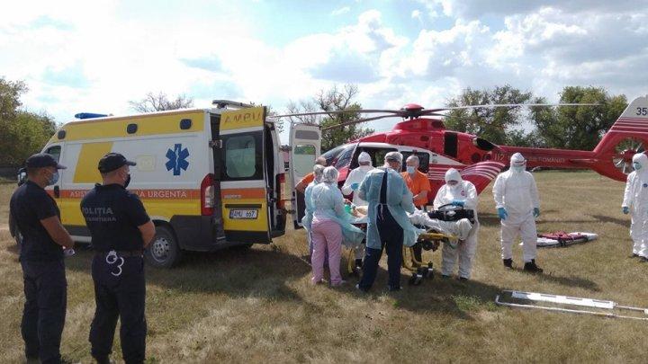 ACCIDENT GRAV în raionul Râșcani. Un tânăr a fost transportat cu un elicopter SMURD la Chișinău