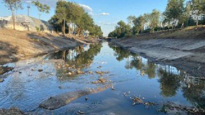 Etapa la care se află lucrările de curățare a albiei râului Bîc