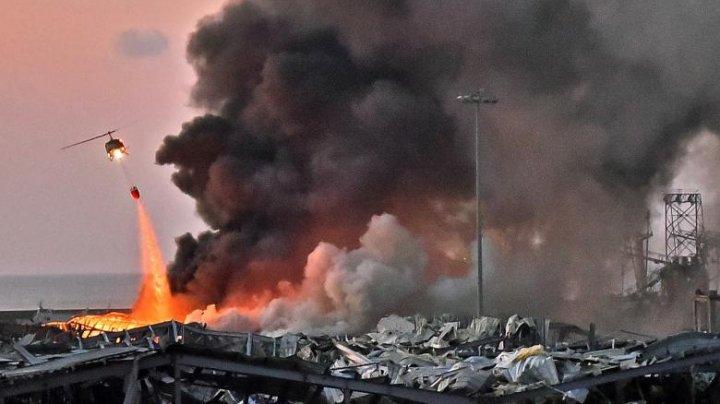 EXPLOZIA din Beirut: Aproximativ 2.750 de tone de nitrat de amoniu erau stocate în depozitul unde s-a produs tragedia