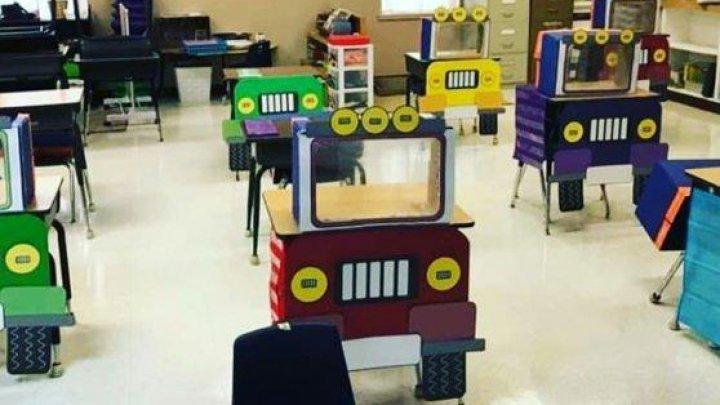 O educatoare a avut o IDEE INEDITĂ pentru amenajarea sălii de clasă, în contextul măsurilor anti COVID