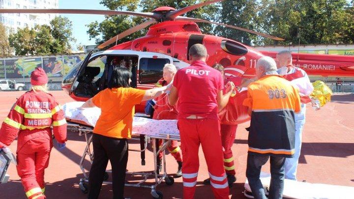 Echipaj aero-medical SMURD Iași, solicitat pentru un cetățean din Republica Moldova, în urma unui accident de circulație cu motocicleta