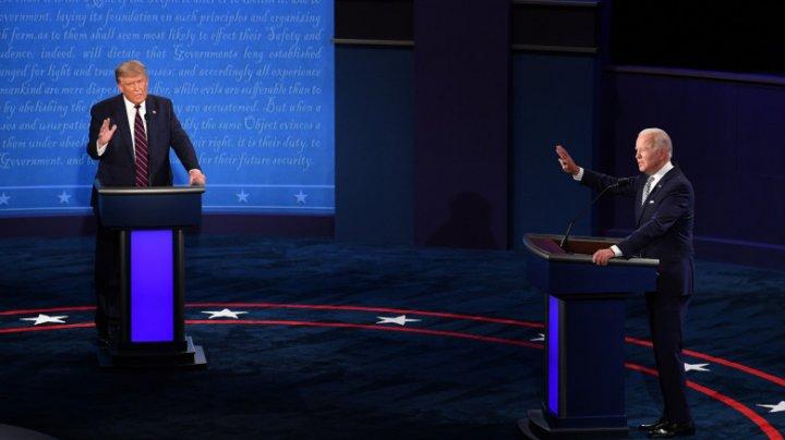 """Prima dezbatere Trump-Biden. Trump: """"Ai fost cel mai slab student din anul tău"""". Biden: """"Mai  taci, omule!"""""""