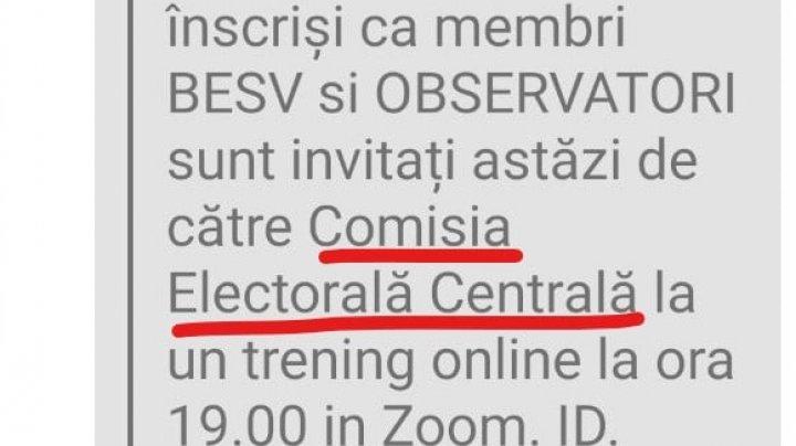 CEC: Atenție! Au fost transmise false invitații de participare la un training de instruire pentru alegerile prezidențiale