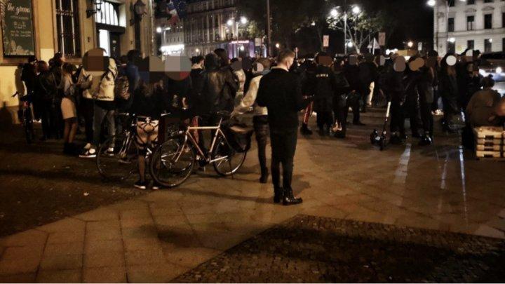 O petrecere cu 600 de persoane, oprită de poliție în Berlin