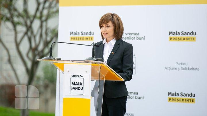 Campania prezidențială a Maiei Sandu, finanțată de o companie cu un singur angajat și cu pierderi financiare