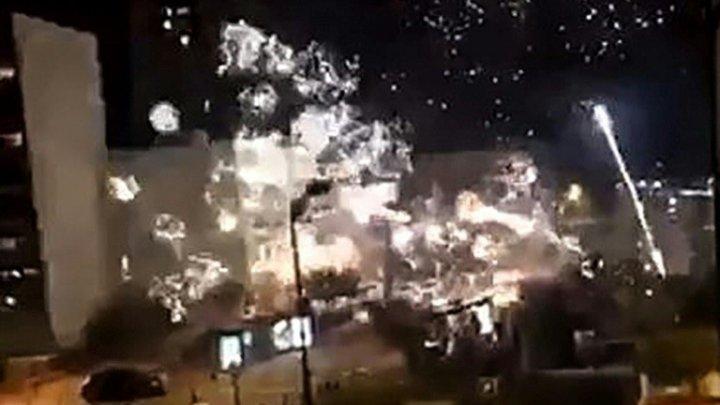 O secţie de poliţie dintr-o suburbie a Parisului, ţinta unui atentat cu artificii