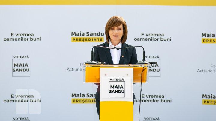 Ce spune Maia Sandu despre un eventual sprijin al alegătorilor lui Ivanov în turul doi