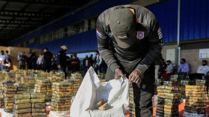Captură RECORD în Paraguay. Poliția a confiscat 2 TONE de cocaină în valoare 500 de milioane de dolari