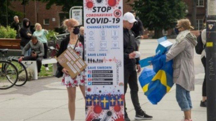Record SUMBRU în Suedia. Cel mai mare număr de infectări cu Covid-19 de la începutul pandemiei