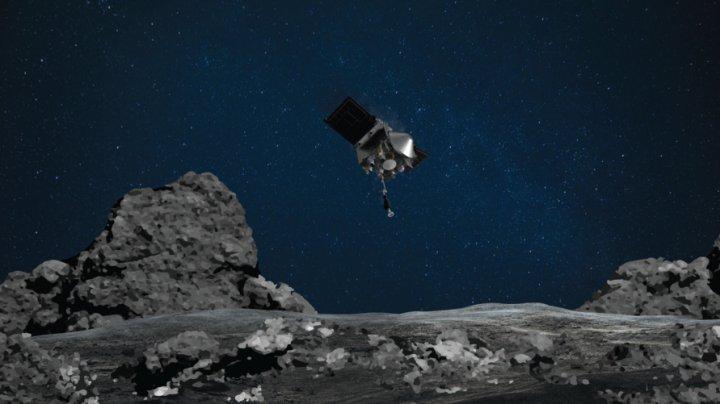 Moment istoric: NASA a reușit să ia mostre de pe un asteroid