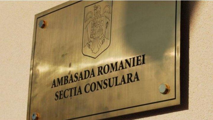 Secția consulară a Ambasadei României la Chișinău își suspendă temporar activitatea