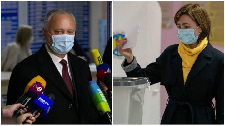 Maia Sandu sau Igor Dodon. Pentru cine ar vota moldovenii în turul II al alegerilor prezidențiale