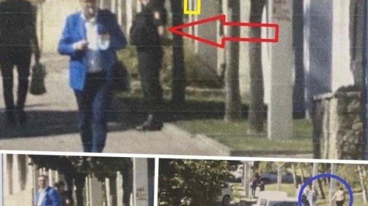 Pozele cu Usatîi în vizită pe la ambasade, publicate de Bogdan Țîrdea, ar fi din timpul verii?