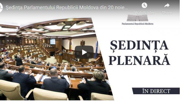 LIVE Ședința Parlamentului din 20 noiembrie