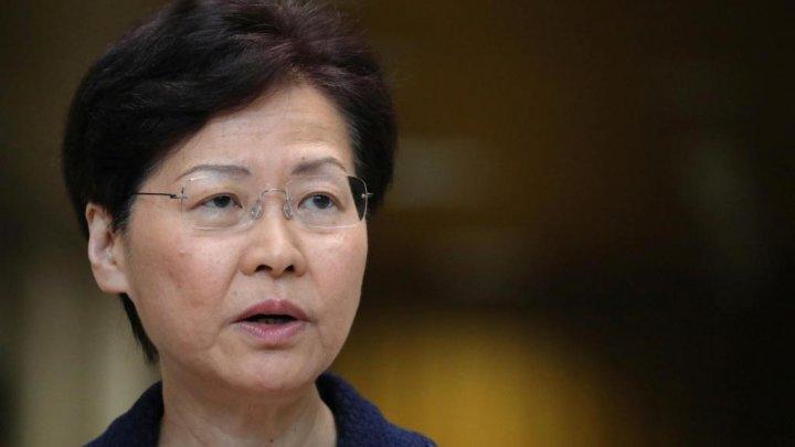 Şefa executivului din Hong Kong care a fost sancţionată de SUA, nu mai beneficiază de cont bancar