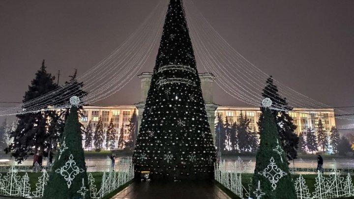 Spiritul sărbătorilor de iarnă cuprinde Capitala. Principalul Pom de Crăciun al ţării, inaugurat în această seară