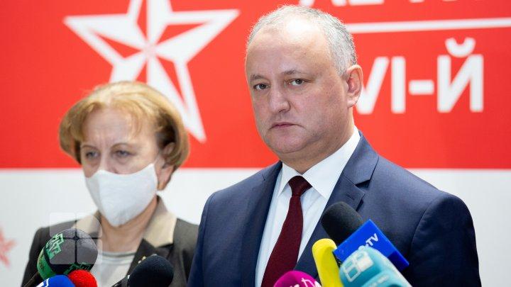 Are loc al XVI-lea congres la PSRM. Socialiștii vor decide dacă Dodon va prelua funcţia de președinte al partidului (FOTO)