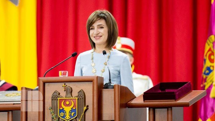 Preşedintele Republicii Moldova, Maia Sandu, a fost premiată de Grupul pentru Dialog Social din România