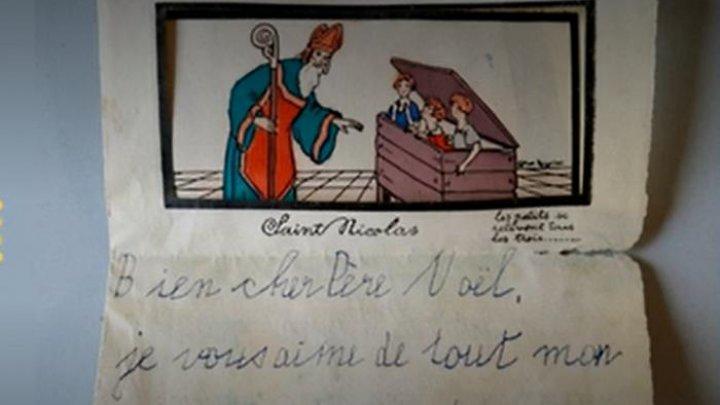 O scrisoare către Moș Crăciun, uitată timp de 90 de ani, descoperită de arheologi în Alsacia