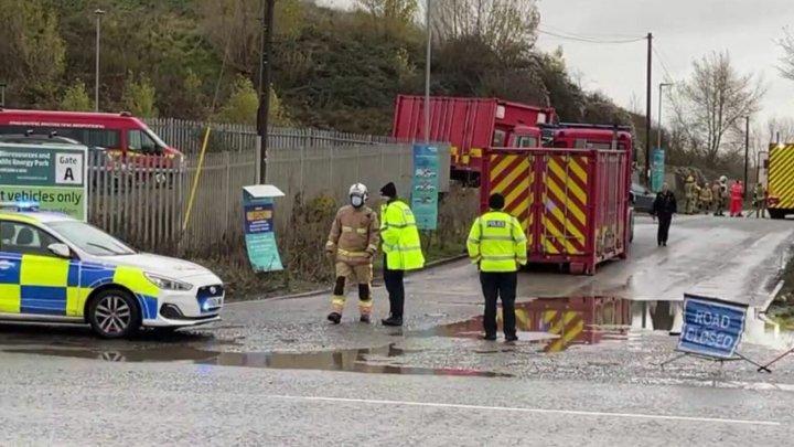 Explozie puternică în Avonmouth, Marea Britanie. Sunt mai multe victime