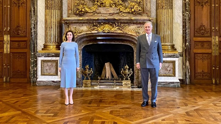 Maia Sandu a avut o întrevedere cu Majestatea Sa, Regele Philippe al Belgiei. Despre ce au discutat oficialii