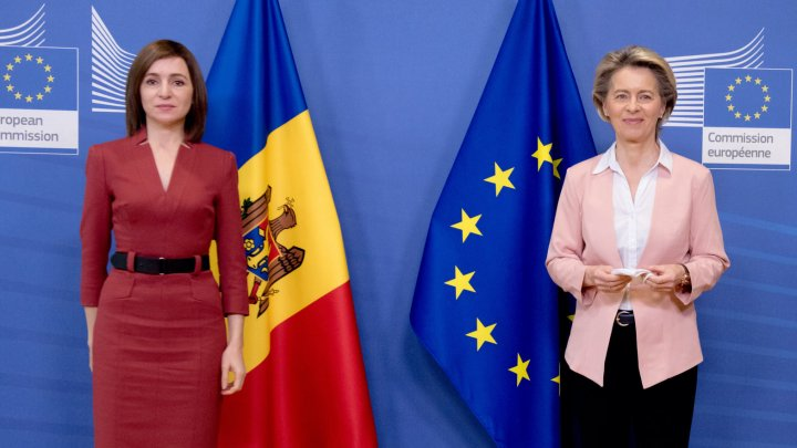 Maia Sandu, vizită oficială la Bruxelles. Şeful statului s-a întâlnit cu preşedintele Comisiei Europene, Ursula Von Der Leyen