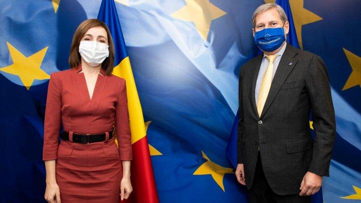 Maia Sandu a avut o întrevedere cu Comisarul european pentru Buget și Administrație