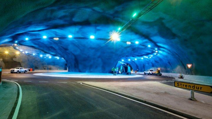 Cum arată sensul giratoriu și tunelurile construite pe fundul Oceanului Atlantic în Feroe (FOTO)
