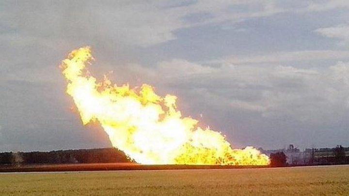 Explozie de amploare de-a lungul unui gazoduct în centrul Ucrainei