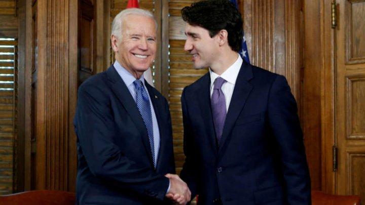 Primul lider străin cu care va vorbi preşedintele Joe Biden va fi premierul canadian Justin Trudeau