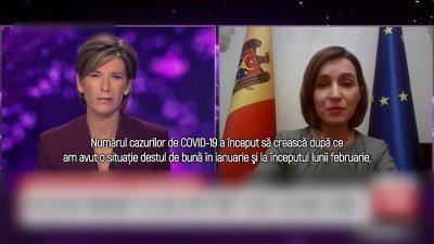 Maia Sandu, interviu pentru CNN: Vaccinul este cel mai important acum, mai ales că şi economia este într-o situaţie foarte rea