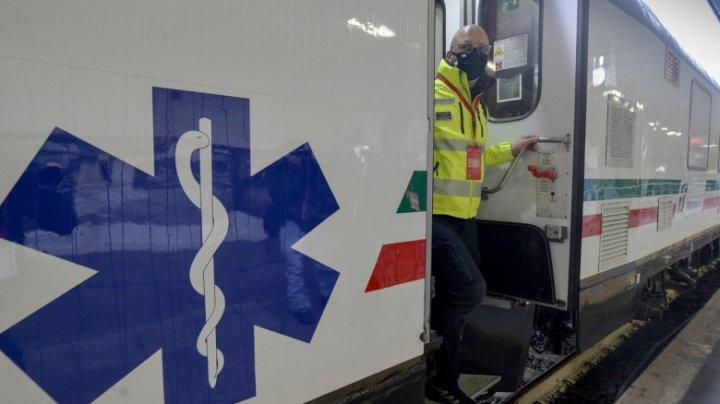 Un tren de ATI va străbate toată Italia pentru a diminua presiunea asupra spitalelor
