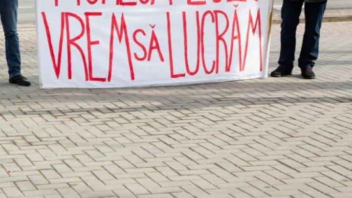 """Agenții economici care activează în centrele comerciale au ieșit din nou la protest: """"Vrem să lucrăm, vrem să lucrăm!"""""""