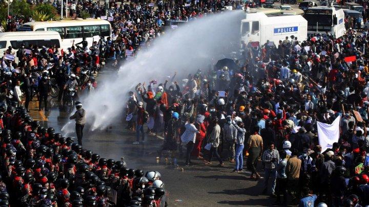 Myanmar a comemorat cea mai sângeroasă zi de la lovitura de stat din 1 februarie
