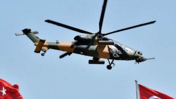 Un elicopter militar s-a prăbușit în Turcia: Nouă soldați au murit (VIDEO)