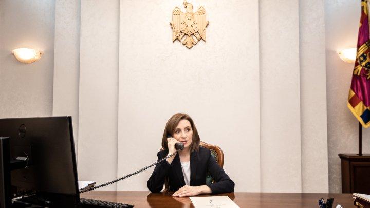 Maia Sandu a avut o convorbire telefonică cu Președintele Parlamentului European, David Sassoli. Despre ce au discutat oficialii