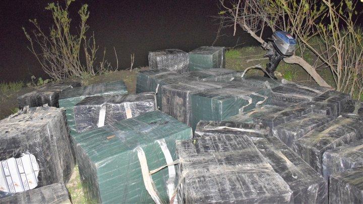 Contrabandă cu țigări de jumătate de milion de lei la Prut