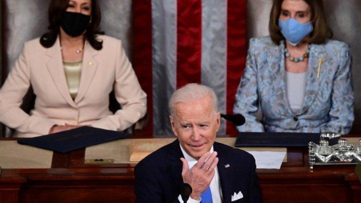 Premieră în SUA: Două femei în spatele preşedintelui Joe Biden pentru discursul său în Congres